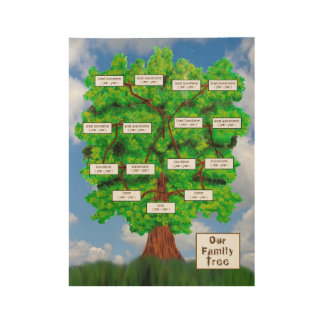 Family Tree Wood Poster
