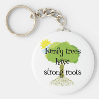 Family Trees Have Strong Roots Key Ring