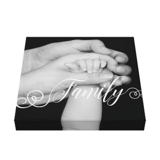 Family Typography Photo Overlay Canvas Print
