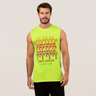 Family vacation Palm Trees Sleeveless Shirt