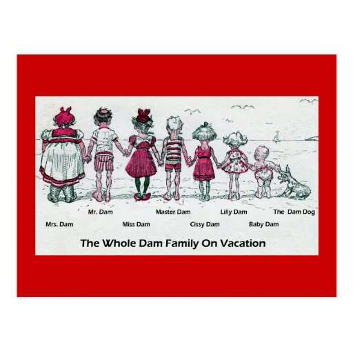 Family Vacation Postcard