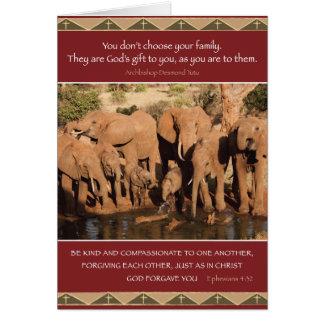 Family Values Card