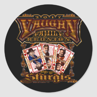 Family Vaughn Reunion round stickers
