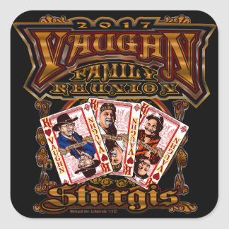 Family Vaughn Reunion square stickers