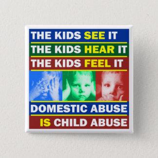 Family Violence 15 Cm Square Badge