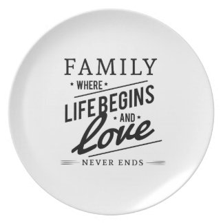 Family: Where Life Begins And Love Never Ends Plate