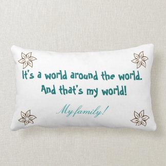 Family (with names of your choice) lumbar pillow