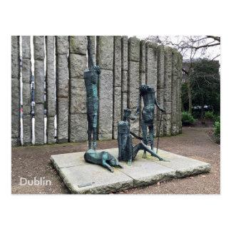 """Famine"", St. Stephen's Green, Dublin, Ireland. Postcard"