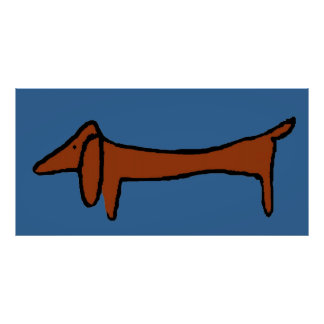 Famous Abstract Brown Dachshund Poster