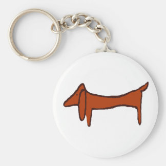Famous Abstract Dachshund Key Ring