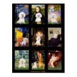 Famous Art Bichon Frise Composite Post Cards