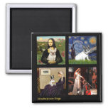 Famous Art French Bull Dog Composite Square Magnet