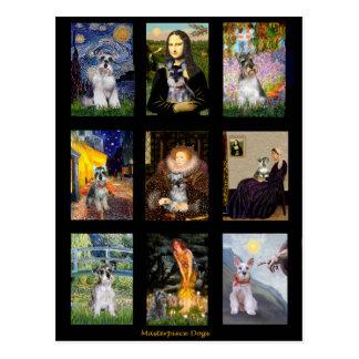 Famous Art Schnauzer Composite Postcard