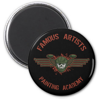 Famous Artists Paintball 6 Cm Round Magnet
