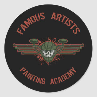 Famous Artists Paintball Round Sticker