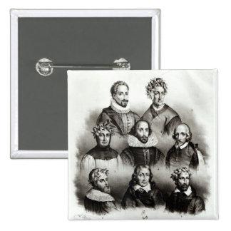 Famous Authors, 1833 15 Cm Square Badge