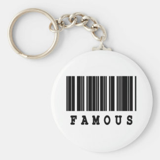 famous barcode design basic round button key ring