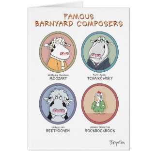 FAMOUS BARNYARD COMPOSERS CARD