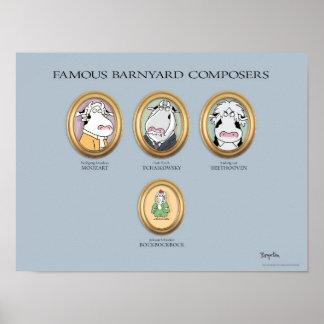 FAMOUS BARNYARD COMPOSERS poster by Sandra Boynton