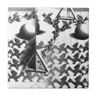 famous black & white draw ceramic tile