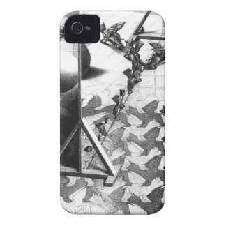 famous black & white draw iPhone 4 case
