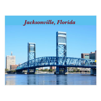 Famous Blue Bridge Jacksonville, Florida Postcard
