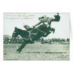 Famous Bucking Bronc Five Minutes Greeting Card