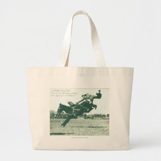 Famous Bucking Bronc Five Minutes Large Tote Bag