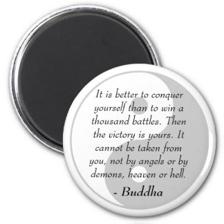 Famous Buddha Quotes - Conquer Yourself Magnet