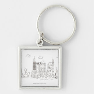 Famous Buildings Keychain
