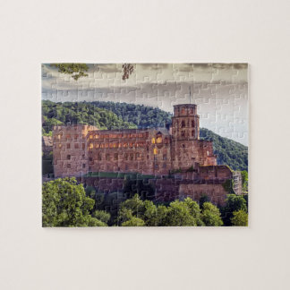 Famous castle ruins, Heidelberg, Germany Jigsaw Puzzle