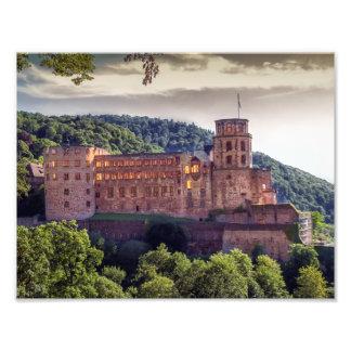 Famous castle ruins, Heidelberg, Germany Photo Print