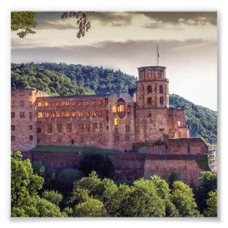 Famous castle ruins, Heidelberg, Germany Photograph