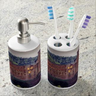 Famous castle ruins, Heidelberg, Germany Soap Dispenser And Toothbrush Holder