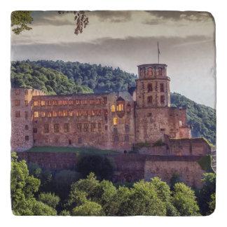 Famous castle ruins, Heidelberg, Germany Trivet