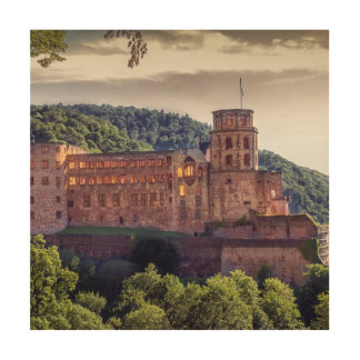 Famous castle ruins, Heidelberg, Germany Wood Wall Decor