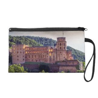Famous castle ruins, Heidelberg, Germany Wristlet Clutch
