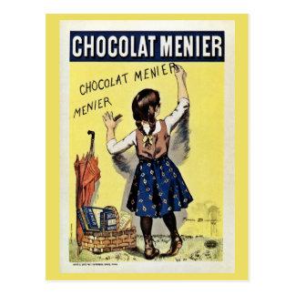 Famous Chocolat Menier vintage poster Postcard