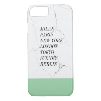 Famous Cities Marble Text Logo iPhone 7 Case