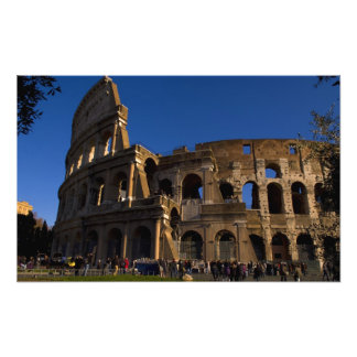 Famous Colosseum in Rome Italy Landmark Photograph