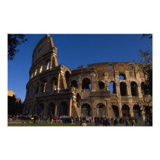 Famous Colosseum in Rome Italy Landmark Photo Art