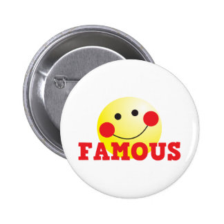 FAMOUS cute face 6 Cm Round Badge