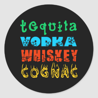 Famous Drinks Classic Round Sticker