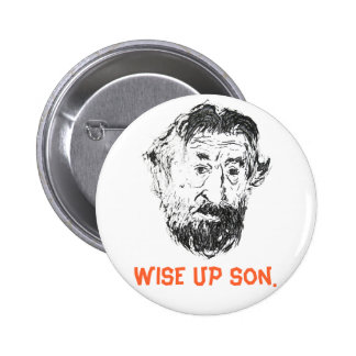 "FAMOUS FACES - ""Wise up son"" Cool DeNiro Button!"