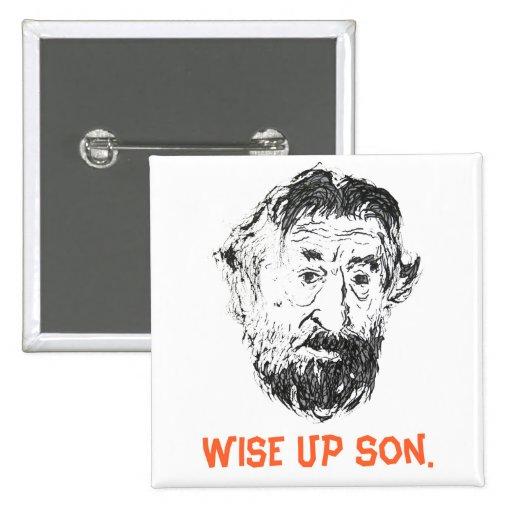 "FAMOUS FACES - ""Wise up son"" Cool DeNiro Button!"