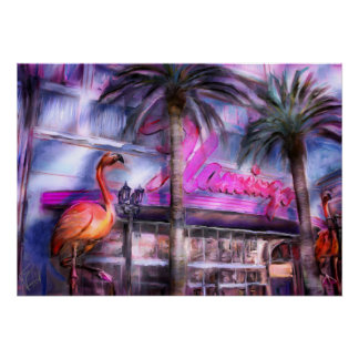 Famous Flamingo Poster