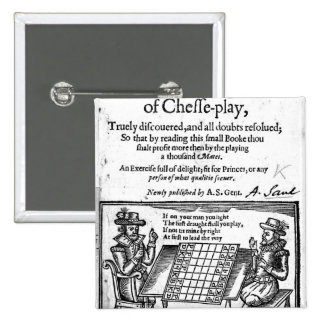 Famous Game of Chess, 1614 15 Cm Square Badge