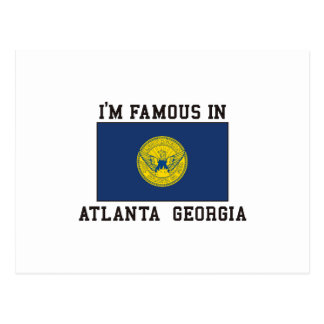 Famous In Atlanta, Georgia Postcard