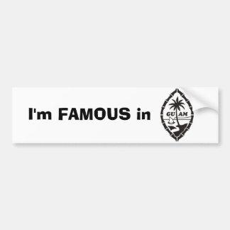 Famous in Guam Sticker