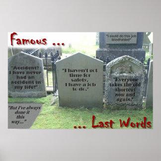 Famous last words print